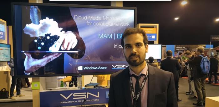 Jordi Capdevila at IBC 2015 Microsoft Azure Stand
