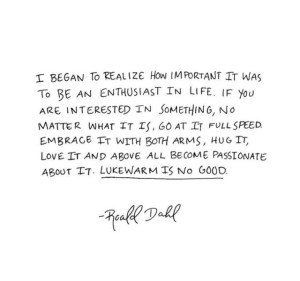 Enthusiast in Life by Roald Dahl